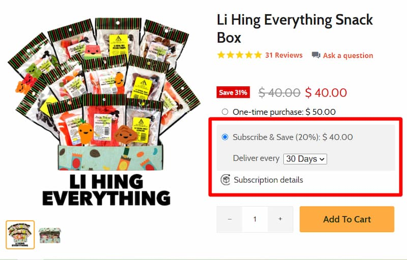 subscribe and save marketing ecommerce