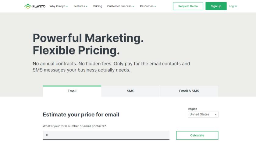 klaviyo vs mailchimp pricing